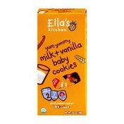 Ella's Kitchen Yum Yummy Milk + Vanilla Baby Cookies Organic - 7+ Months
