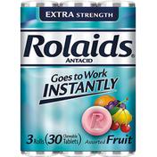 Rolaids Antacid, Extra Strength, Tablets, Assorted Fruit