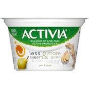 Activia Less Sugar & More Good Pear & Ginger Yogurt