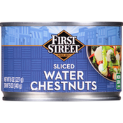 First Street Water Chestnuts, Sliced
