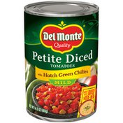 Del Monte Tomatoes with Hatch Green Chilies, Petite Diced, Mild