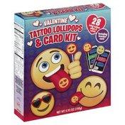 Flix Candy Tattoo Lollipops & Card Kit, Valentine