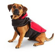 Good2 Go Red & Black All Weather Dog Parka Xx Large/3 X Large