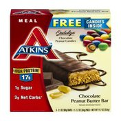 Atkins Meal Replacement Bar Chocolate Peanut Butter - 5 CT