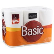 Essential Everyday Paper Towels, Multi-Size, Basic, Two-Ply