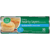 Food Club Buttermilk Flavored Flaky Hearty Layers Biscuits