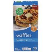 Food Club Blueberry Waffles