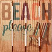 Na Pallet Coaster, Beach Please