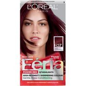 Feria High-Intensity Shimmering Colour Power Red R37 Deep Burgundy Hair Color