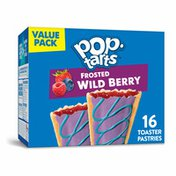 Kellogg's Pop-Tarts Toaster Pastries, Breakfast Foods, Baked in the USA, Frosted Wild Berry