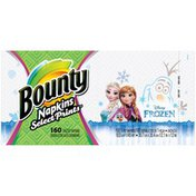 Bounty Paper Napkins, Disney Frozen Print , 160 Count Towels/Napkins