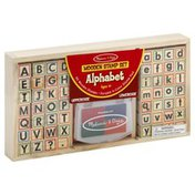 Melissa & Doug Stamp Set, Wooden, Alphabet