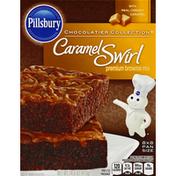 Pillsbury Brownie Mix, Premium, Caramel Swirl