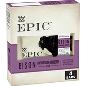 Epic Bison Bacon Cranberry Bars, Paleo Friendly, Gluten Free, 4 Count