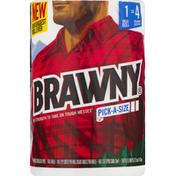 Brawny Paper Towels, Mega Roll, Pick-A-Size, 2-Ply