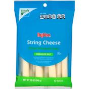 Hy-Vee String Cheese, Reduced Fat, Mozzarella