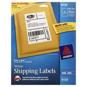 Avery Shipping Labels, Ink Jet, White