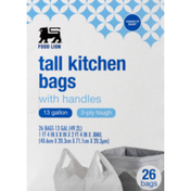 Food Lion Tall Kitchen Bags, With Handles