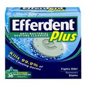 Efferdent Plus Anti-Bacterial Denture Cleanser Tablets Extreme Minty Fresh - 36 CT