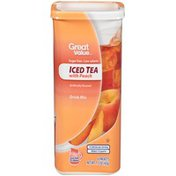 Great Value Iced Tea with Peach Drink Mix
