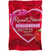 Russell Stover Strawberry Cream Heart Covered In Milk Chocolate