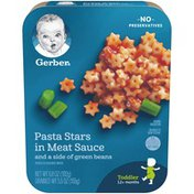 Gerber Pasta Stars in Meat Sauce with Green Beans