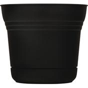 Bloem Planter, Saturn Black, 7 Inches