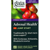 Gaia Herbs Adrenal Health, Jump Start, Vegan Liquid Phyto-Caps