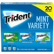 Trident Assorted Mint Sugar Free Gum Variety Pack