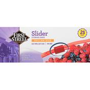 First Street Storage Bags, Slider, Gallon Size