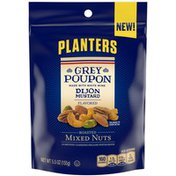 Planters Grey Poupon Dijon Mustard Flavored Roasted Mixed Nuts with Almonds, Cashews, Pecans & Pistachios