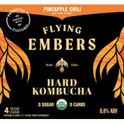 Flying Embers Hard Kombucha, Pineapple Chili
