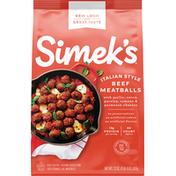 Simek's Meatballs, Beef, Italian Style