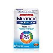Mucinex® Maximum Strength Fast-Max Cold & Flu All-In-One Liquid Gels