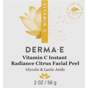 DERMA E Facial Peel, Vitamin C, Instant Radiance, Citrus