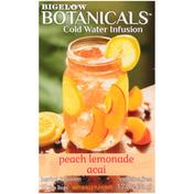 Bigelow Cold Water Infusion Peach Lemonade Acai Herbal Tea Bags