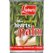 Lieber's Hearts of Palm, Gourmet, Whole