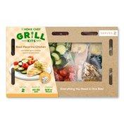 Home Chef Basil Pecorino Chicken With Lemon Garlic Summer Squash & Tomatoes Grill Kit