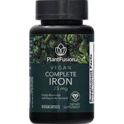 PlantFusion Complete Iron, Vegan, 25 mg, Capsules
