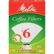 Melitta Coffee Filters, Cone, No. 6