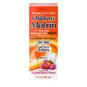 Children's Motrin Oral Suspension Dye-Free Berry