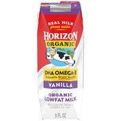 Horizon Organic DHA Omega 3 Vanilla Lowfat Milk