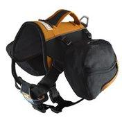 Kurgo Large Black & Orange Big Baxter Dog Backpack