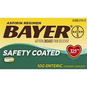 Bayer Aspirin Regimen, 325 mg, Safety Coated, Enteric Coated Caplets