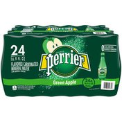 PERRIER Green Apple Flavored Carbonated Mineral Water