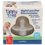 Tippy Toes Digital Pacifier Thermometer With Musical Fever Alarm