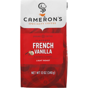 Camerons Coffee, Ground, Light Roast, French Vanilla