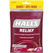 Halls Black Cherry Sugar Free Cough Drops