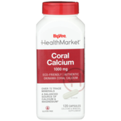 Hy-Vee Healthmarket, Coral Calcium 1000 Mg Calcium & Mineral Supplement Capsules
