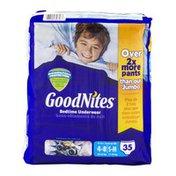 GoodNites Bedtime Underwear 4-8/S-M Cool Designs - 35 CT